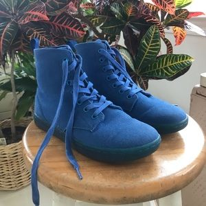 Dr. Marten's Blue Canvas Hackney Boot